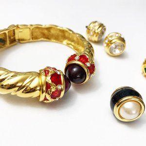 Vintage Joan Rivers Hinged Bracelet